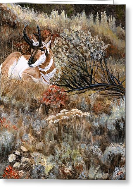 Greeting Card featuring the painting Autumn Splendor by Sheri Gordon