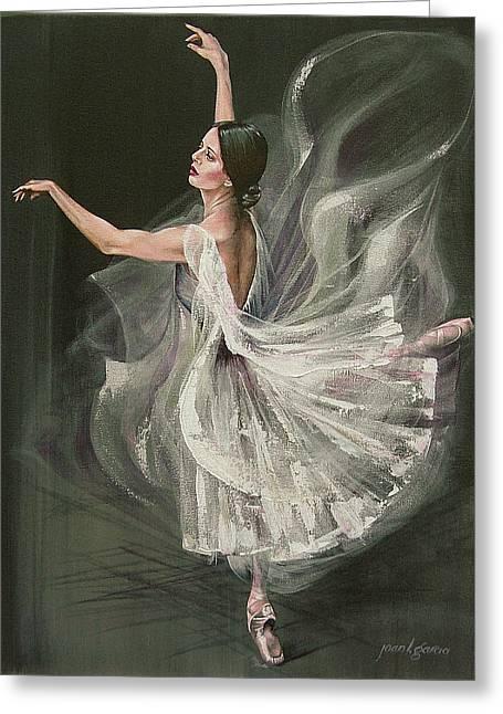Baile Blanca Greeting Card by Joan Garcia