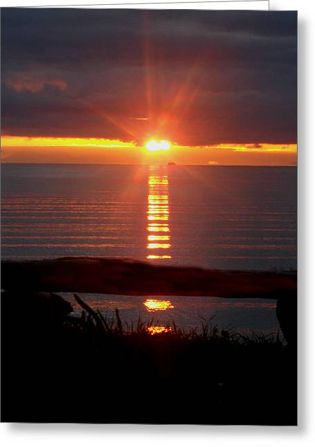 Baptism Sunrise Greeting Card by Barbara Stirrup