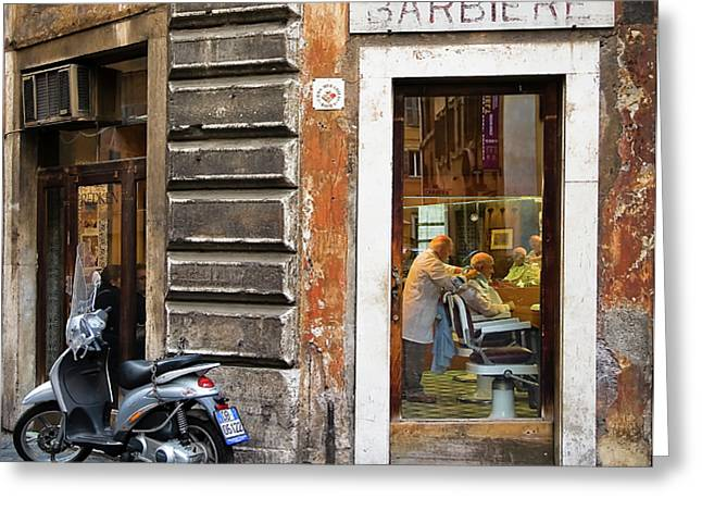 Barbiere Greeting Card