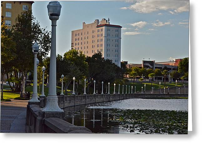 Beautiful Downtown Lakeland Greeting Card