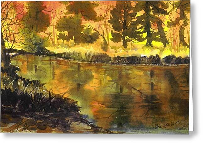 Bishop Creek Autumn Greeting Card