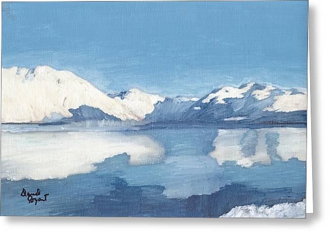 Blue Alaska Greeting Card by David Poyant
