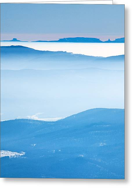 Blue Haze Greeting Card by Evgeni Dinev