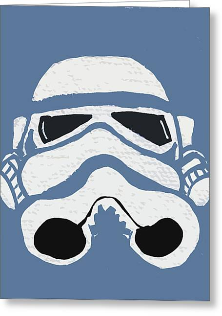 Blue Trooper Greeting Card by Jera Sky