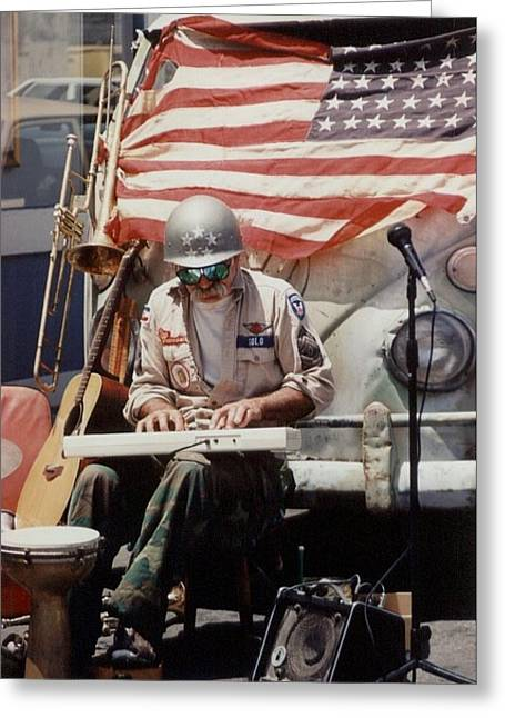 Greeting Card featuring the photograph Born In The Usa by Mary-Lee Sanders