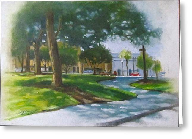 Brick City Ocala Fl Greeting Card by Janet McGrath