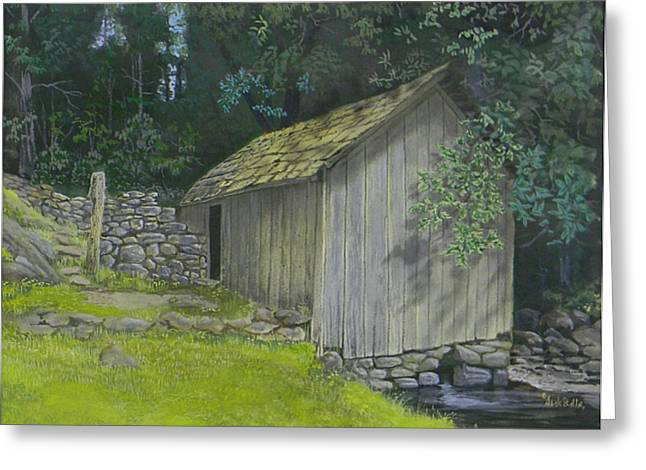 Brinegar Cabin Springhouse Greeting Card