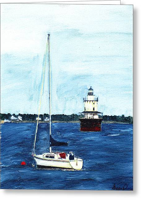 Butlers Flat New Bedford Greeting Card by David Poyant