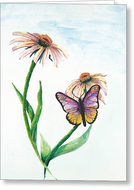 Butterfly Dance Greeting Card by Deborah Ellingwood