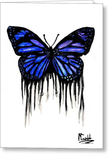 Butterfly Tears Greeting Card by Michael Grubb