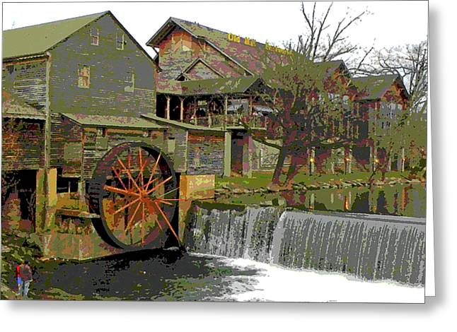 Greeting Card featuring the photograph By The Old Mill Stream by Larry Bishop