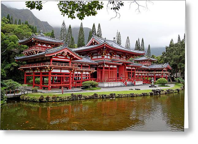 Byodo-in Temple Oahu Greeting Card