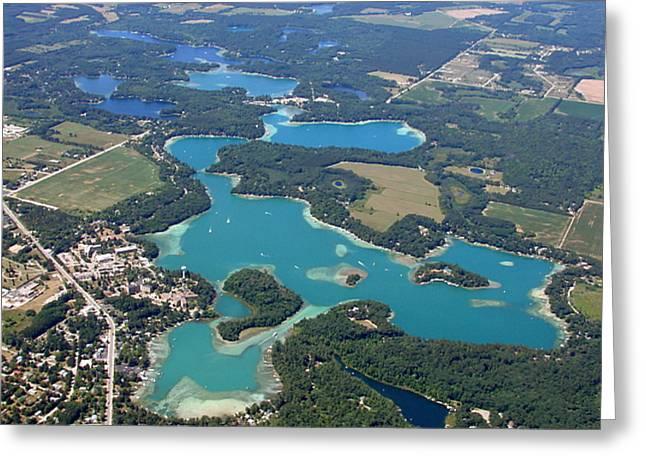 C-022 Chain-o-lakes Summer Waupaca Wisconsin Greeting Card