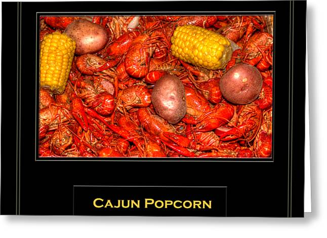 Cajun Popcorn Greeting Card