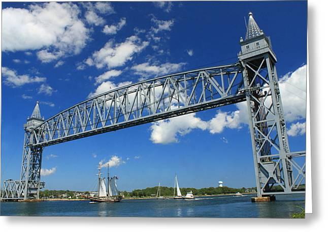 Cape Cod Canal Railroad Bridge Greeting Card