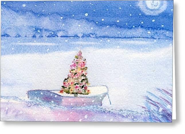 Cape Cod Christmas Tree Greeting Card by Joseph Gallant