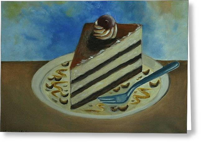 Caramel Cake Greeting Card by Kostas Koutsoukanidis
