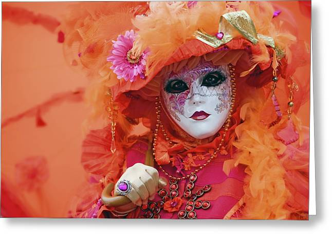 Carnival In Orange Greeting Card