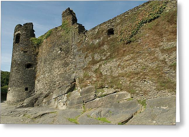 Greeting Card featuring the photograph Castle - Ardennes - Belgium by Urft Valley Art