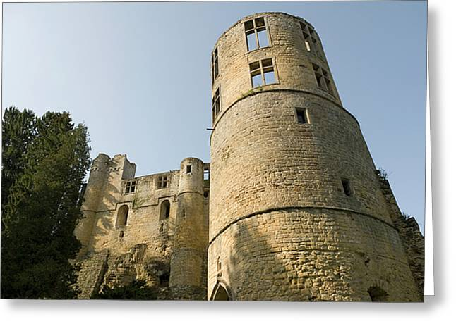 Greeting Card featuring the photograph Castle - Ardennes - Luxembourg by Urft Valley Art