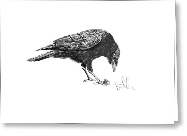 Caw Of The Wild Greeting Card by Barb Kirpluk