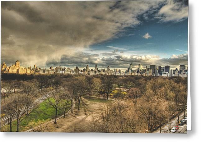 Central Park Springtime Greeting Card by Ariane Moshayedi