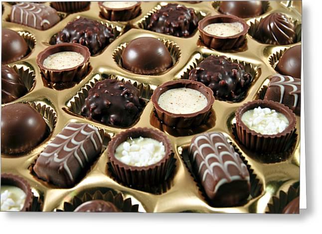 Chocolate Heaven Greeting Card by Ricky Barnard
