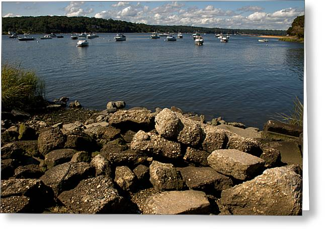 Greeting Card featuring the photograph Cold Spring Harbor by Steven Richman