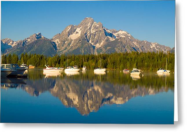Colter Bay Marina Greeting Card by Phil Stone