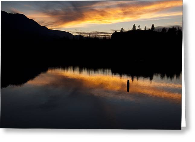 Columbia River Sunset Greeting Card by Jon Ares