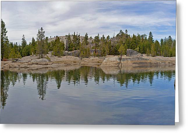 Coming Storm Lake Utica Sierra Nevada Landscape Panorama Larry Darnell Greeting Card