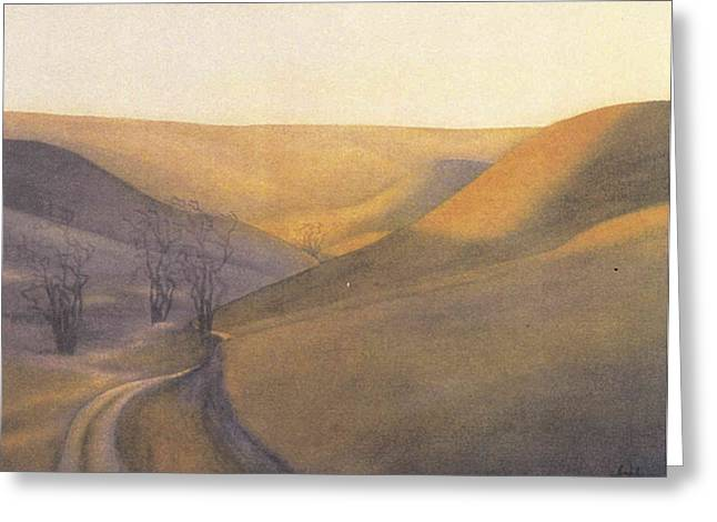 Coulee Sunset Greeting Card by Anne Havard