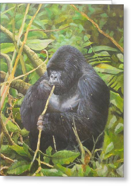 Deep In Virunga Jungle Greeting Card