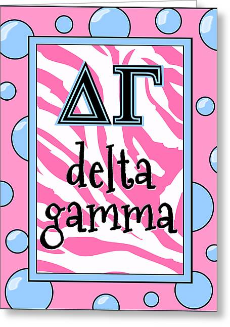 Delta Gamma Sorority Greeting Card by Suzanne Clark
