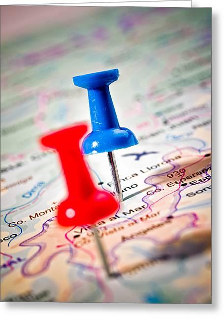 Destinations Greeting Card by Jim DeLillo