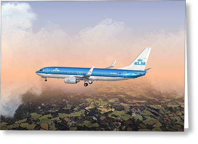 Greeting Card featuring the digital art Dirty 737ng 28.8x18 by Mike Ray