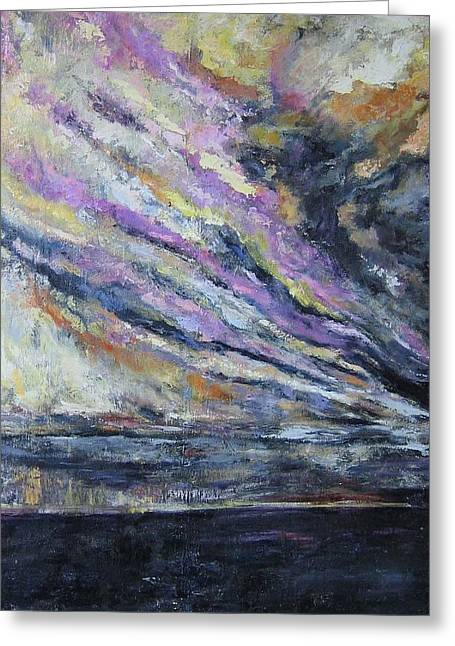Dispelling Storm Greeting Card by Debora Cardaci