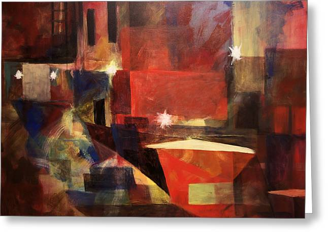 Dumpster - Sold Greeting Card by Stephen Roberson