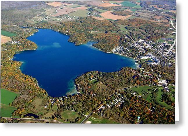 E-006 Elkhart Lake Wisconsin Fall Lake Greeting Card