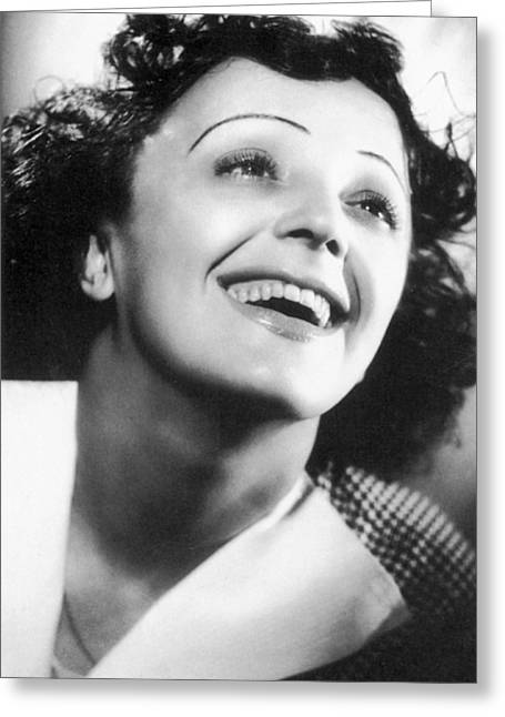 Edith Piaf Greeting Card by Granger