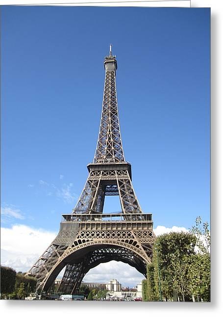 Eiffel Tower Tarped Ix Paris France Greeting Card