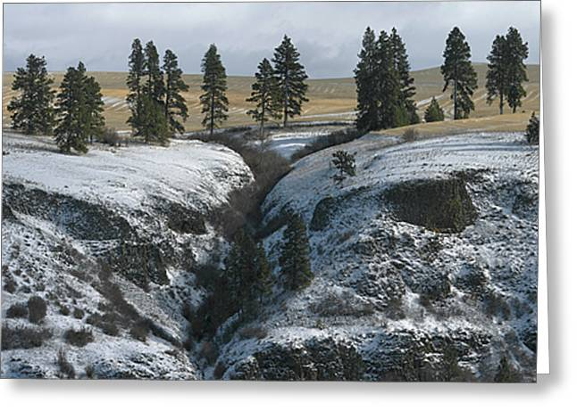 Elberton Cliffs In Winter Greeting Card by Jerry McCollum