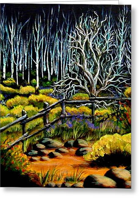 End Of The Evening Trail Greeting Card by Diana Dearen
