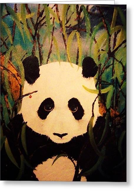 Endangered Panda Greeting Card