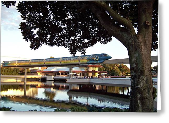 Epcot Tron Monorail Greeting Card