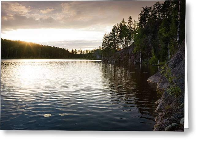 Evening In Karelia Greeting Card by Konstantin Dikovsky