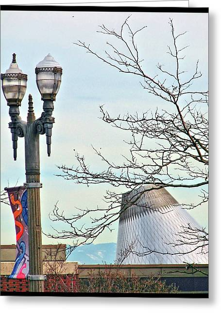 Greeting Card featuring the photograph Finial Faux Pas by Chris Anderson