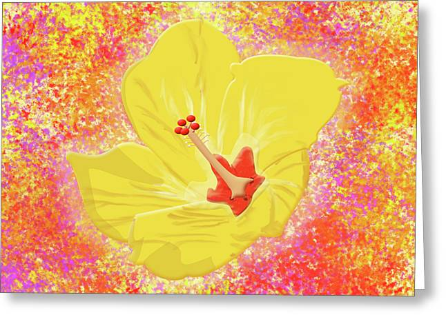 Flower In Bloom Greeting Card by Melissa Stinson-Borg