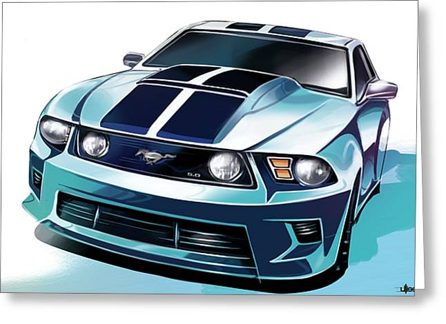 Ford Mustang 5.0 Greeting Card
